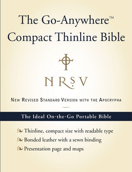 NRSV, The Go-Anywhere Compact Thinline Bible with the Apocrypha, Bonded Leather, Navy