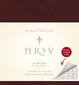 NRSV, XL Edition with the Apocrypha, Bonded Leather, Burgundy