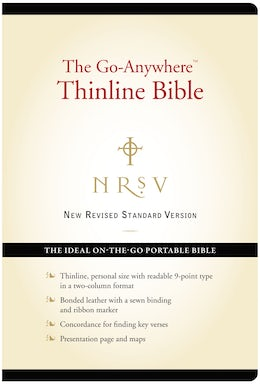 NRSV, The Go-Anywhere Thinline Bible, Bonded Leather, Black