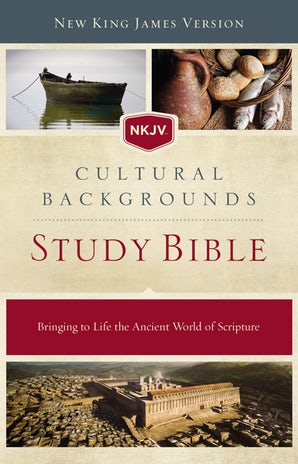 NKJV, Cultural Backgrounds Study Bible, Hardcover, Red Letter book image