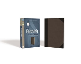 NIV, Faithlife Study Bible, Imitation Leather, Gray/Black