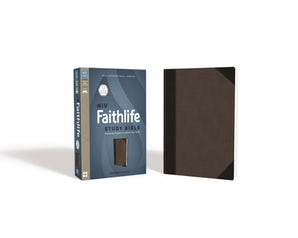 NIV, Faithlife Study Bible, Imitation Leather, Gray/Black, Indexed