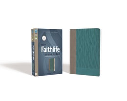 NIV, Faithlife Study Bible, Imitation Leather, Gray/Blue