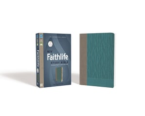 NIV, Faithlife Study Bible, Imitation Leather, Gray/Blue, Indexed