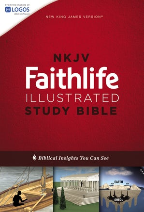 NKJV, Faithlife Illustrated Study Bible, Hardcover, Red Letter Edition book image