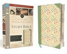 NIV, Cultural Backgrounds Study Bible, Leathersoft, Green, Red Letter Edition