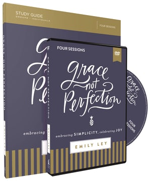 Grace, Not Perfection Study Guide with DVD book image
