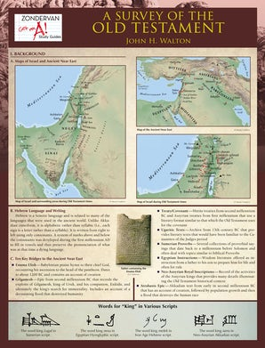 A Survey of the Old Testament Laminated Sheet book image