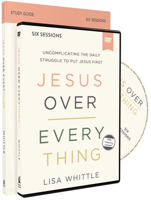 Jesus Over Everything Study Guide with DVD book image