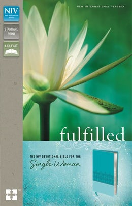 NIV, Fulfilled Devotional Bible for the Single Woman, Leathersoft, Turquoise