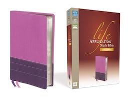 NIV, Life Application Study Bible, Large Print, Leathersoft, Pink/Purple