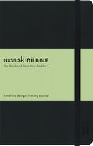 NASB, Skinii Bible, Leathersoft, Black