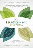 NIV, LifeConnect Study Bible, Hardcover, Red Letter Edition