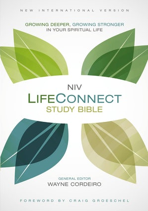 NIV, LifeConnect Study Bible, Hardcover, Red Letter Edition book image