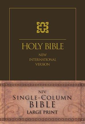 NIV, Single-Column Bible, Large Print, Hardcover, Brown