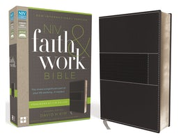 NIV, Faith and Work Bible, Leathersoft, Gray