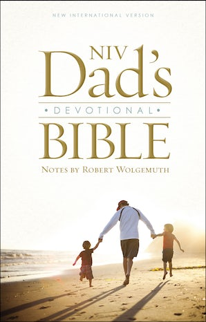 NIV, Dad's Devotional Bible, Hardcover book image