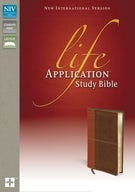 NIV, Life Application Study Bible, Leathersoft, Tan/Brown