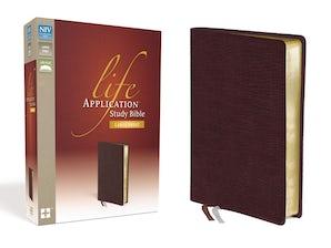 NIV, Life Application Study Bible, Large Print, Bonded Leather, Burgundy