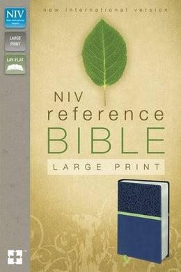 NIV, Reference Bible, Large Print, Leathersoft, Blue/Green