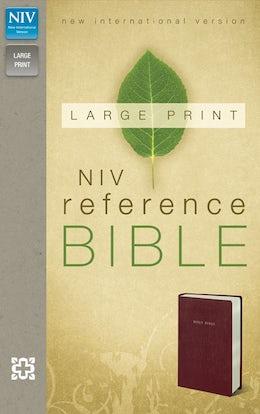 NIV, Reference Bible, Large Print, Imitation Leather, Burgundy