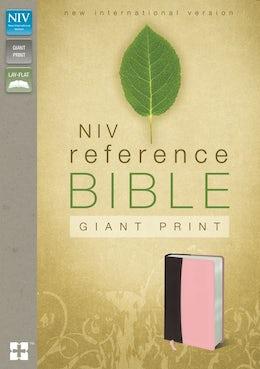 NIV, Reference Bible, Giant Print, Leathersoft, Burgundy/Pink