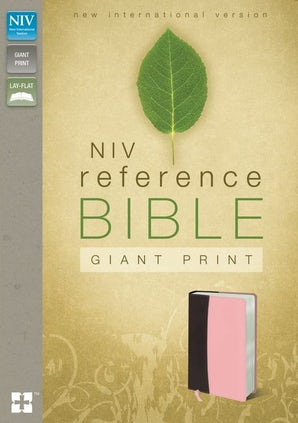 NIV, Reference Bible, Giant Print, Leathersoft, Burgundy/Pink