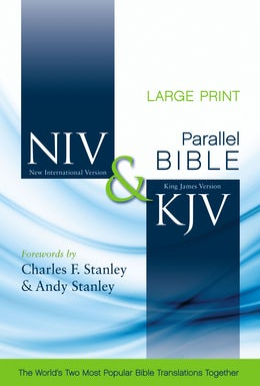 NIV, KJV, Parallel Bible, Large Print, Hardcover