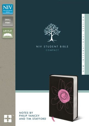 NIV, Student Bible, Compact, Imitation Leather, Brown/Pink book image