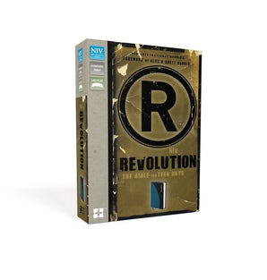 NIV, Revolution: The Bible for Teen Guys, Leathersoft, Blue/Charcoal book image