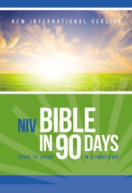 NIV, Bible in 90 Days, Paperback