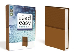 NIV, ReadEasy Bible, Large Print, Leathersoft, Tan, Red Letter Edition