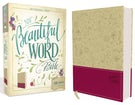 NIV, Beautiful Word Bible, Leathersoft, Tan/Pink
