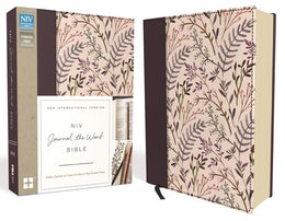 NIV, Journal the Word Bible, Cloth over Board, Pink Floral