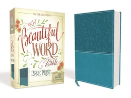 NKJV, Beautiful Word Bible, Large Print, Leathersoft, Teal, Red Letter Edition