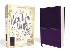 KJV, Beautiful Word Bible, Large Print, Leathersoft, Purple, Red Letter Edition