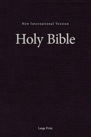 NIV, Pew and Worship Bible, Large Print, Hardcover, Black, Comfort Print