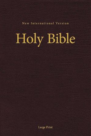 NIV, Pew and Worship Bible, Large Print, Hardcover, Burgundy, Comfort Print