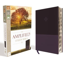 The Amplified Study Bible, Leathersoft, Purple, Indexed
