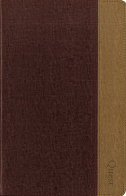 NIV, Quest Study Bible, Personal Size, Leathersoft, Burgundy/Tan, Indexed
