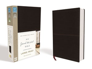 NIV, Journal the Word Bible, Large Print, Leathersoft, Black