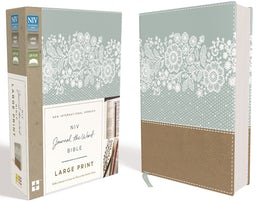 NIV, Journal the Word Bible, Large Print, Leathersoft, Teal/Tan