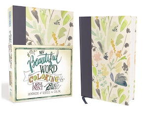 NIV, Beautiful Word Coloring Bible, Large Print, Cloth over Board, Navy