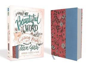 NIV, Beautiful Word Coloring Bible for Teen Girls, Leathersoft, Pink/Blue
