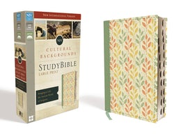 NIV, Cultural Backgrounds Study Bible, Large Print, Leathersoft, Green, Indexed, Red Letter Edition