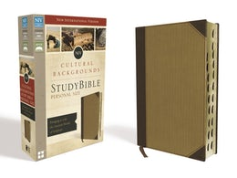 NIV, Cultural Backgrounds Study Bible, Personal Size, Leathersoft, Tan, Indexed, Red Letter Edition