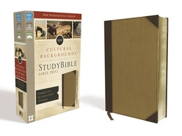 NIV, Cultural Backgrounds Study Bible, Large Print, Leathersoft, Tan, Red Letter Edition