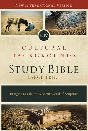 NIV, Cultural Backgrounds Study Bible, Large Print, Hardcover, Red Letter Edition