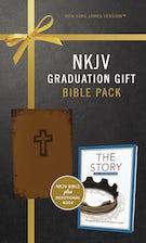 NKJV, Graduation Gift, Bible Pack for Him, Brown, Red Letter Edition