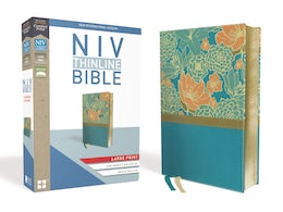 NIV, Thinline Bible, Large Print, Leathersoft, Teal, Red Letter Edition, Comfort Print